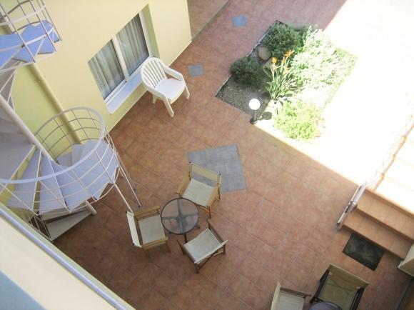 Inner yard - new tiles on floor